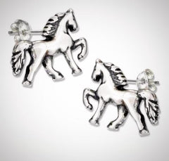 saddle horse earrings gifts for horse lovers at horse lane