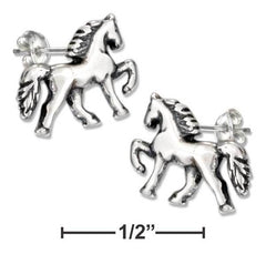 Saddle Horse Post Earrings