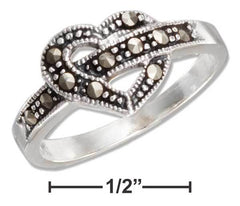 Sterling & Marchasite Western Heart Ring