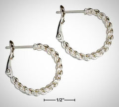 Sterling Silver 20mm Rope Loop Earrings
