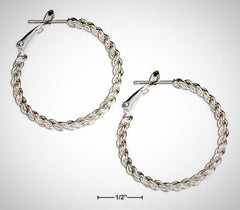 Sterling Silver 30mm Rope Loop Earrings