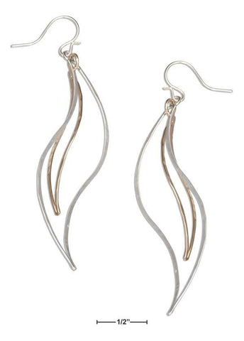 Horse Tails Sterling Silver and 12K Gold-Filled Earrings