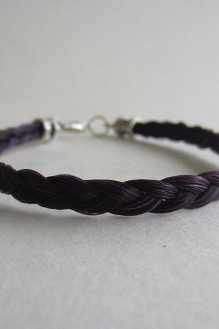 NEW! Natural Horsehair 3-Strand Flat-Braid Bracelet