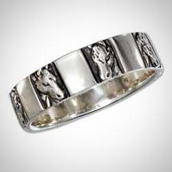 Handcrafted Horse Head Band Ring