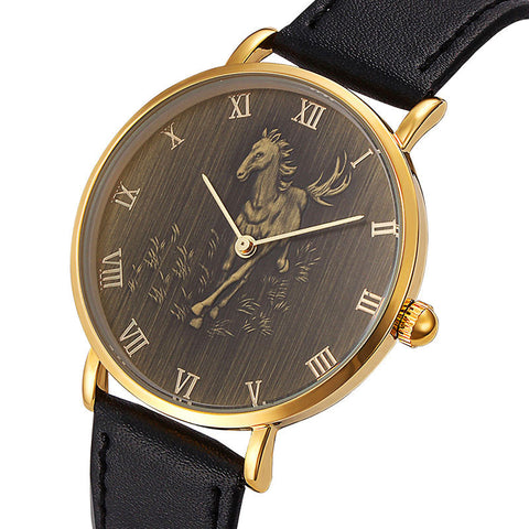 Limited Edition Horseman's Engraved Watch
