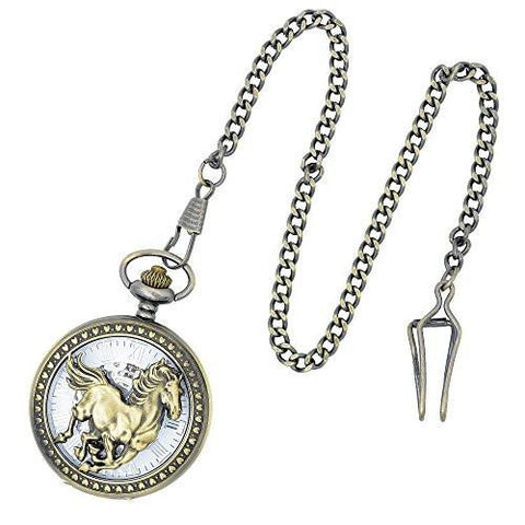 Horseman's Antiqued Pocket Watch