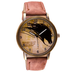 Limited Edition Vintage Horse Painting Watch