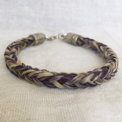 Natural Horse Hair Bracelet with Silver Heart Charm