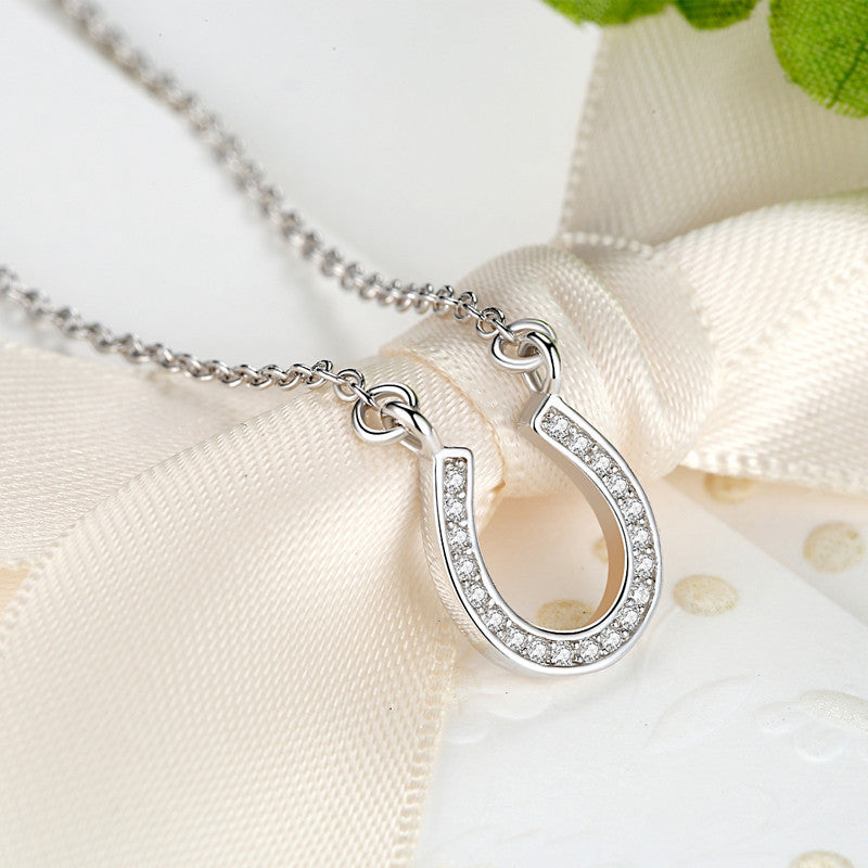 Simply Lucky 925 Sterling Silver Horseshoe Necklace