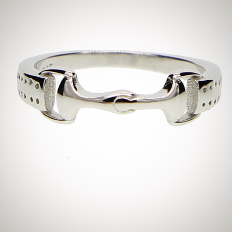 925 Sterling Silver Snaffle Bit Ring