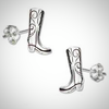 Image of Sterling Silver Mini Cowboy Boot Earrings