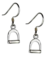 Premium Sterling Silver English Stirrup Earrings