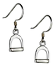 Image of Premium Sterling Silver English Stirrup Earrings