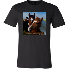 Horse Portrait T-shirt, What Are You Looking At?