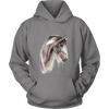 Image of Pencil Sketch Horse Art Hoodie