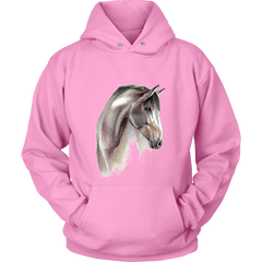 Pencil Sketch Horse Art Hoodie