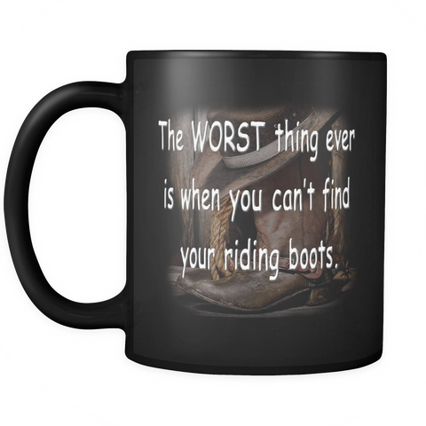 Horse Coffee Mug - Riding Boots