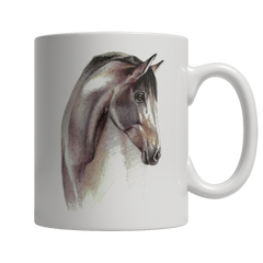 Pencil Sketch Horse Art Mug