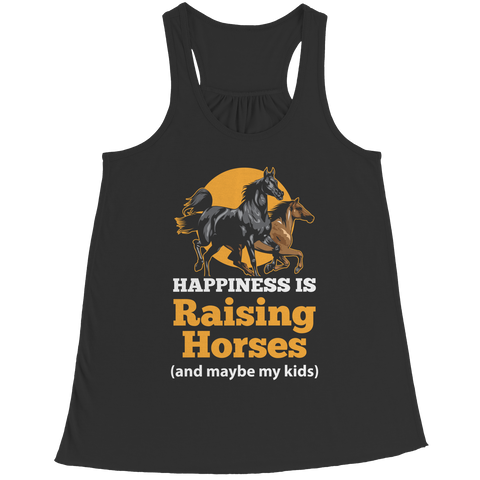 Happiness Is Raising Horses - Racerback Tank Top