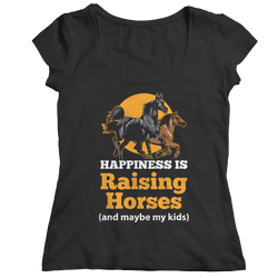 Happiness Is Raising Horses - Ladies Classic T-Shirt