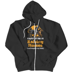 Happiness Is Raising Horses - Zipper Hoodie