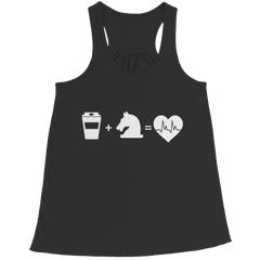 Coffee + Horses Sling-Back Tank Top