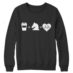 Coffee + Horses Crewneck Fleece Sweatshirt