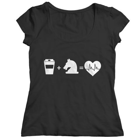 Coffee + Horses Ladies Classic T-Shirt