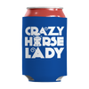 Image of horse-gifts-crazy-horse-lady-can-koozie-royal-blue
