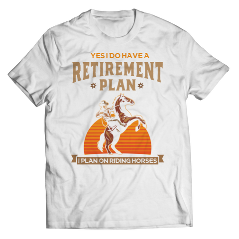 retirement-plan-unisex-horse-t-shirts-white
