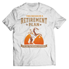 Image of retirement-plan-unisex-horse-t-shirts-white