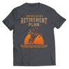 Image of retirement-plan-unisex-horse-t-shirts-charcoal