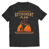Image of retirement-plan-unisex-horse-t-shirts-black