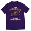 Image of horseaholic-t-shirts-unisex-purple