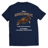 Image of horseaholic-t-shirts-unisex-navy-blue