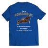 Image of horseaholic-t-shirts-unisex-royal-blue