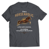 Image of horseaholic-t-shirts-charcoal