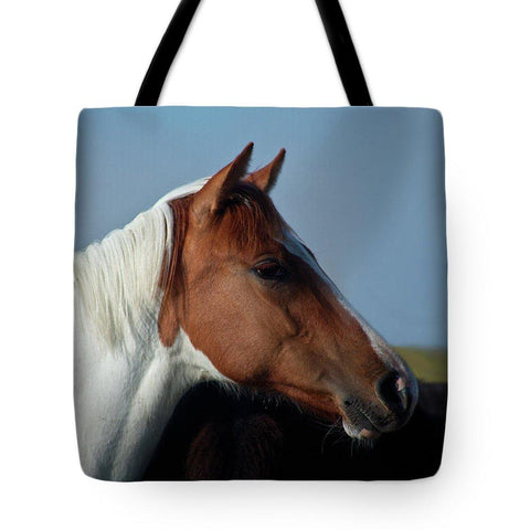Tote Bag, Paint Horse Portrait