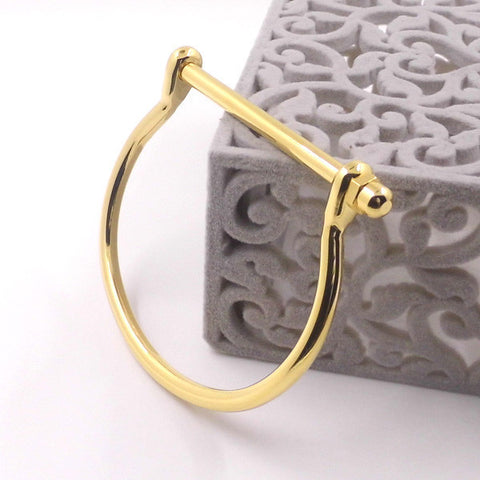 Contemporary Stainless Steel Horseshoe Bracelet