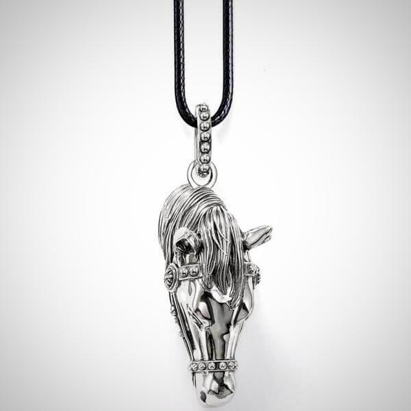 Vintage Stainless Steel Horse Pendant Necklace