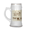 Image of Vintage Village Horses at Pasture Beer Stein