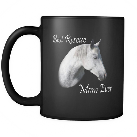 Rescue Mom Horse Coffee Mug