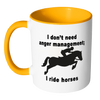 Image of I don't need anger management Horse Coffee Mug