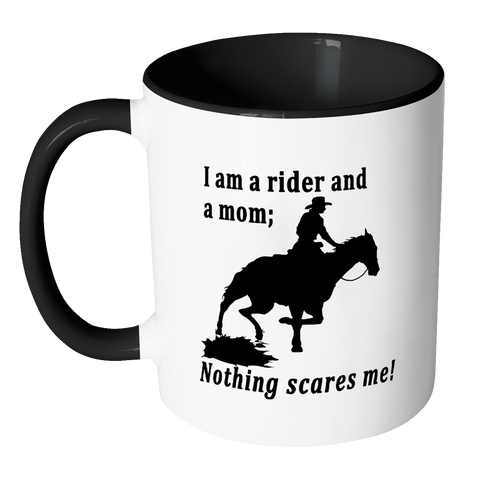 Nothing Scares Me Coffee mug with western image