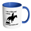 Image of Nothing Scares Me Coffee mug with western image