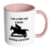 Image of Nothing Scares Me Horse Themed Coffee Mug
