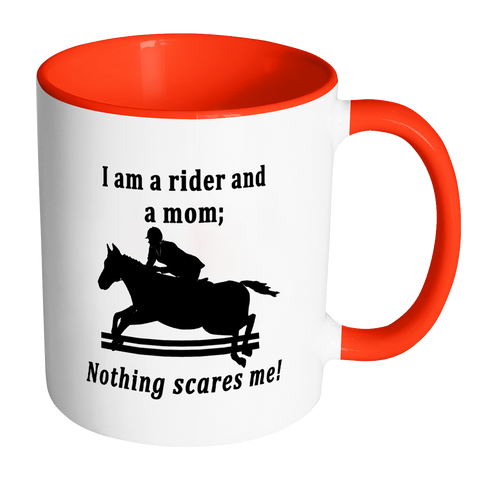 Nothing Scares Me Horse Themed Coffee Mug