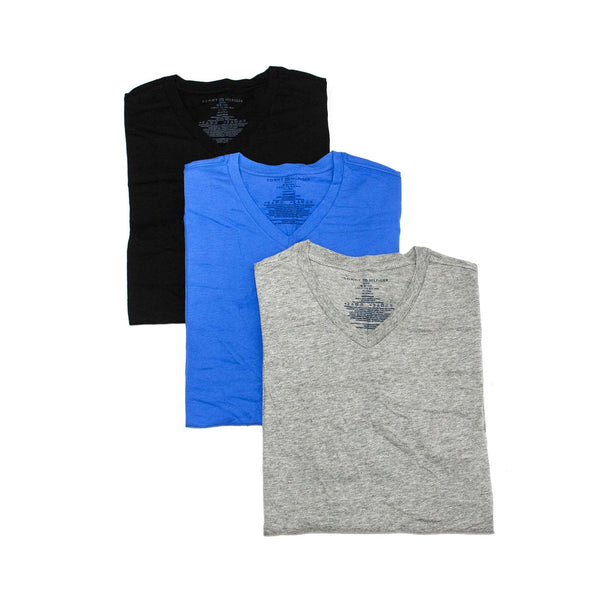 Tommy Hilfiger Men's Undershirts 3 Pack Cotton Classics V-Neck T-Shirt