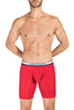 Obviously PrimeMan Boxer Brief 9 inch Leg Red