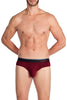 Obviously PrimeMan Brief Steel Maroon